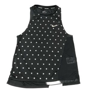 Nike dri-fit black star print tank top